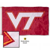 Virginia Tech Hokies Nylon Embroidered Flag