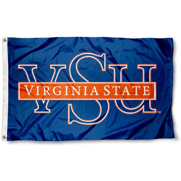 VSU Trojans Logo 3x5 Flag measures 3'x5', is made of 100% poly, has quadruple stitched sewing, two metal grommets, and has double sided Team University logos. Our Virginia State 3x5 Flag is officially licensed by the selected university and the NCAA.