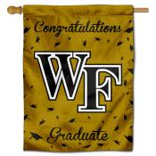 Wake Forest Demon Deacons Congratulations Graduate Flag