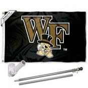 Wake Forest Demon Deacons Flag Pole and Bracket Kit