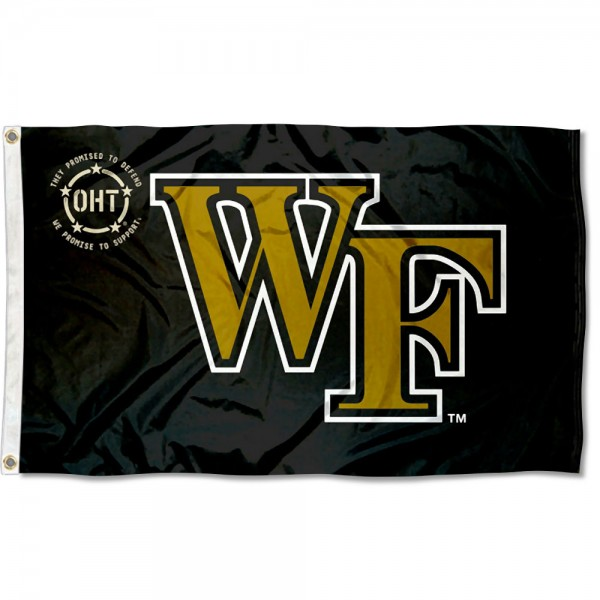 Wake Forest Demon Deacons Operation Hat Trick Flag measures 3x5 feet, is made of 100% polyester, offers quadruple stitched flyends, has two metal grommets, and offers screen printed NCAA team logos and insignias. Our Wake Forest Demon Deacons Operation Hat Trick Flag is officially licensed by the selected university and NCAA.