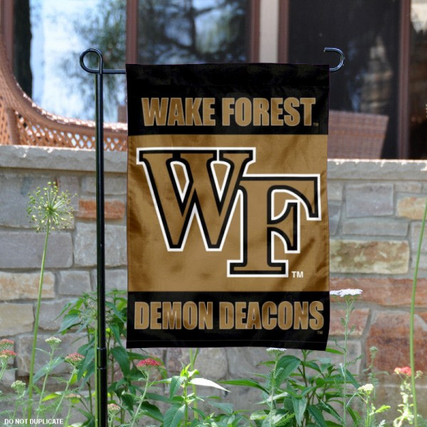 Wake Forest Garden Flag is 13x18 inches in size, is made of 2-layer polyester, screen printed Wake Forest University athletic logos and lettering. Available with Same Day Express Shipping, Our Wake Forest Garden Flag is officially licensed and approved by Wake Forest University and the NCAA.