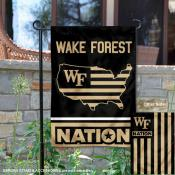 Wake Forest Garden Flag with USA Country Stars and Stripes