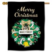 Wake Forest Happy Holidays Banner Flag