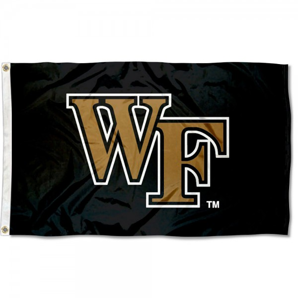 Wake Forest University Black 3x5 Flag
