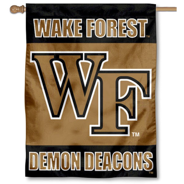 Wake Forest University House Flag is a vertical house flag which measures 30x40 inches, is made of 2 ply 100% polyester, offers dye sublimated NCAA team insignias, and has a top pole sleeve to hang vertically. Our Wake Forest University House Flag is officially licensed by the selected university and the NCAA
