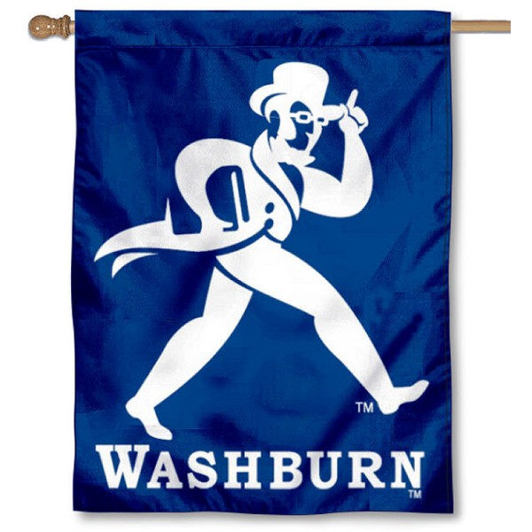 Washburn Ichabod Banner Flag is a vertical house flag which measures 30x40 inches, is made of 2 ply 100% polyester, offers screen printed NCAA team insignias, and has a top pole sleeve to hang vertically. Our Washburn Ichabod Banner Flag is officially licensed by the selected university and the NCAA.