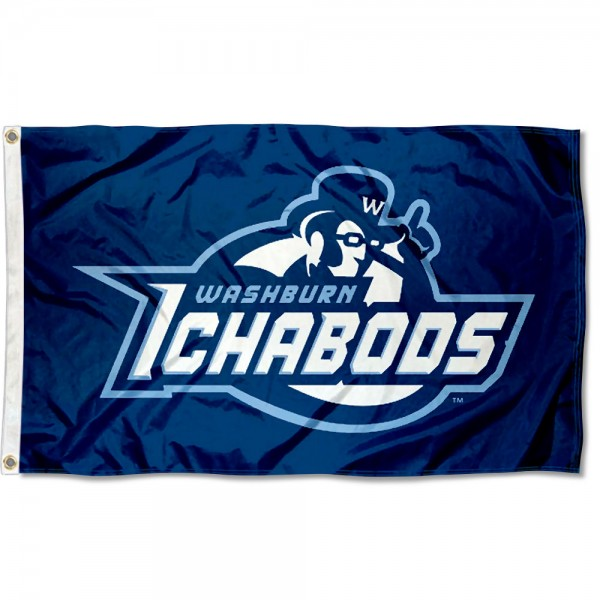Washburn Ichabods Flag measures 3x5 feet, is made of 100% polyester, offers quadruple stitched flyends, has two metal grommets, and offers screen printed NCAA team logos and insignias. Our Washburn Ichabods Flag is officially licensed by the selected university and NCAA.
