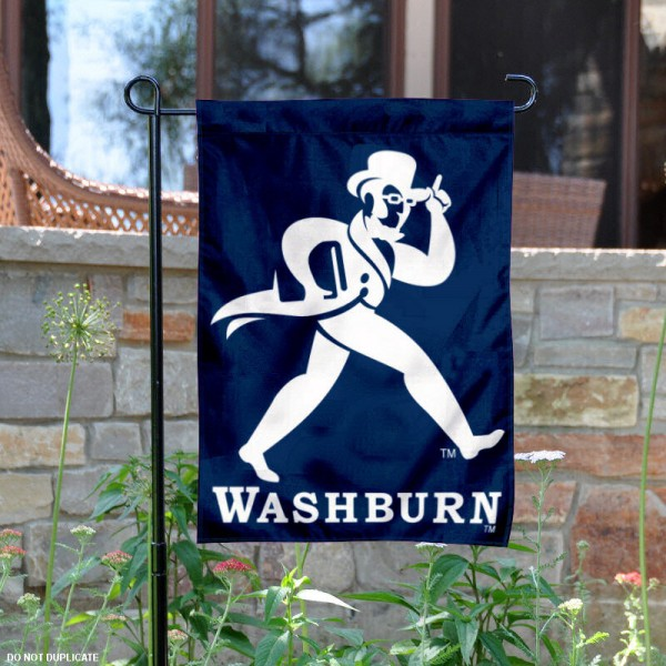 Washburn University Garden Flag is 13x18 inches in size, is made of 2-layer polyester, screen printed Washburn University athletic logos and lettering. Available with Same Day Express Shipping, Our Washburn University Garden Flag is officially licensed and approved by Washburn University and the NCAA.
