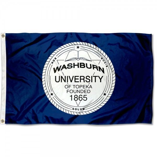 Washburn University Seal Flag measures 3x5 feet, is made of 100% polyester, offers quadruple stitched flyends, has two metal grommets, and offers screen printed NCAA team logos and insignias. Our Washburn University Seal Flag is officially licensed by the selected university and NCAA.