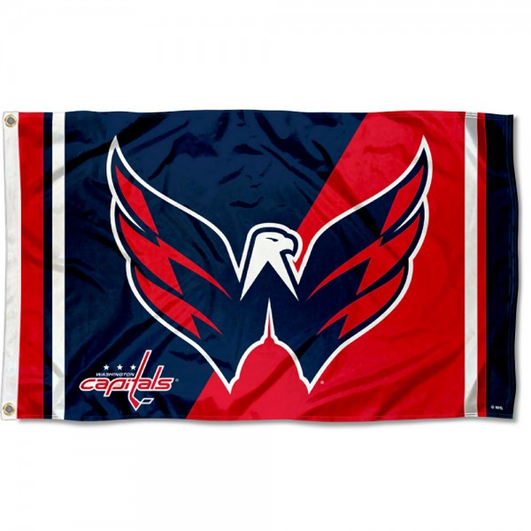 The Washington Capitals Bald Eagle Flag is four-stitched bordered, double sided, made of poly, 3'x5', and has two grommets. These Washington Capitals Bald Eagle Flags are NHL Genuine Merchandise.