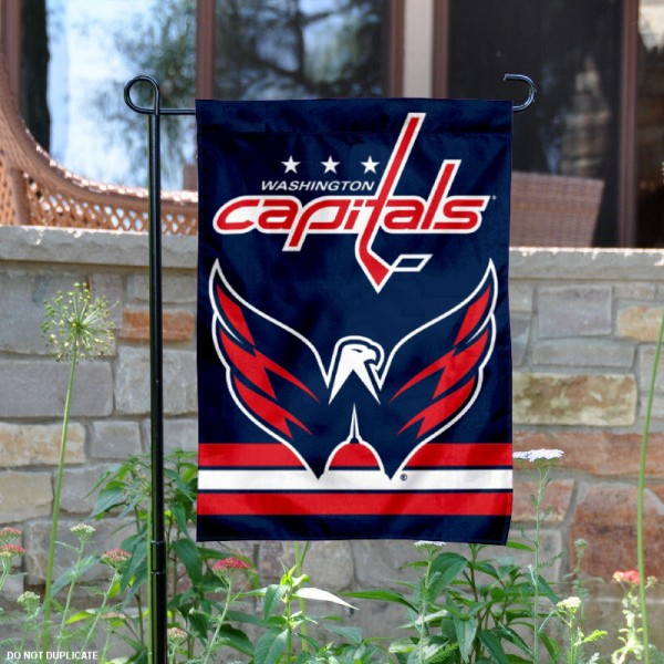 Washington Capitals Garden Flag is 12.5x18 inches in size, is made of 2-ply polyester, and has two sided screen printed logos and lettering. Available with Express Next Day Ship, our Washington Capitals Garden Flag is NHL Officially Licensed and is double sided.