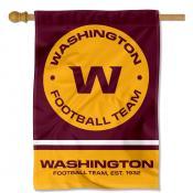 Washington Football Team Wordmark Logo Double Sided House Banner