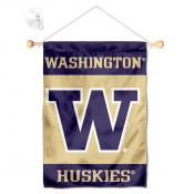 Washington Huskies Banner with Suction Cup