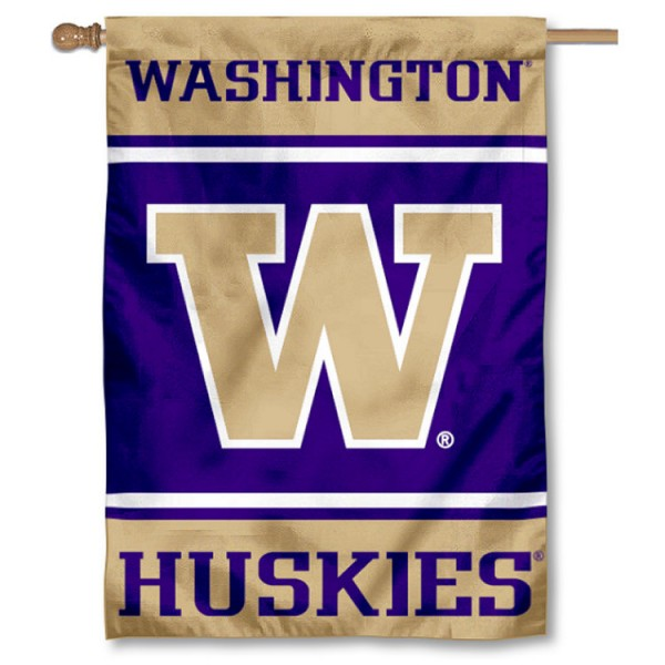 Washington Huskies Double Sided Banner is a vertical house flag which measures 28x40 inches, is made of 2 ply 100% nylon, offers screen printed NCAA team insignias, and has a top pole sleeve to hang vertically. Our Washington Huskies Double Sided Banner is officially licensed by the selected university and the NCAA.