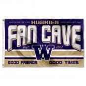 Washington Huskies Fan Man Cave Game Room Banner Flag