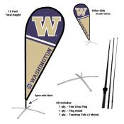 Washington Huskies Feather Flag Kit
