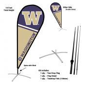 Washington Huskies Feather Flag Kit