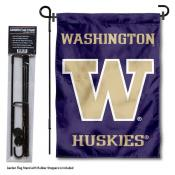 Washington Huskies Garden Flag and Pole Stand Mount