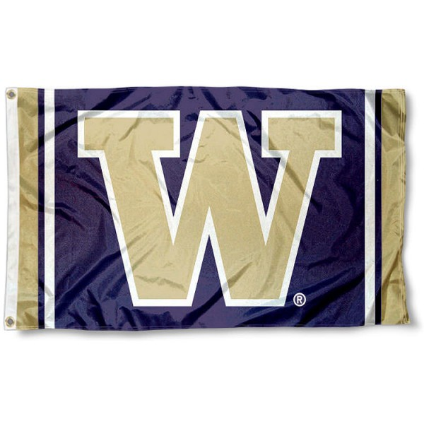 Washington Huskies Jersey Stripes Flag measures 3x5 feet, is made of 100% polyester, offers quadruple stitched flyends, has two metal grommets, and offers screen printed NCAA team logos and insignias. Our Washington Huskies Jersey Stripes Flag is officially licensed by the selected university and NCAA.