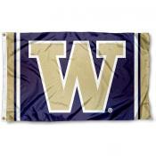 Washington Huskies Jersey Stripes Flag