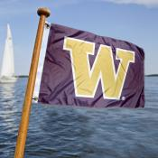 Washington Huskies  Nautical Flag