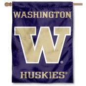 Washington Huskies Purple House Flag