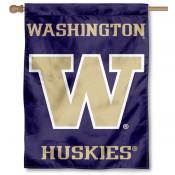 Washington Huskies Purple House Flag