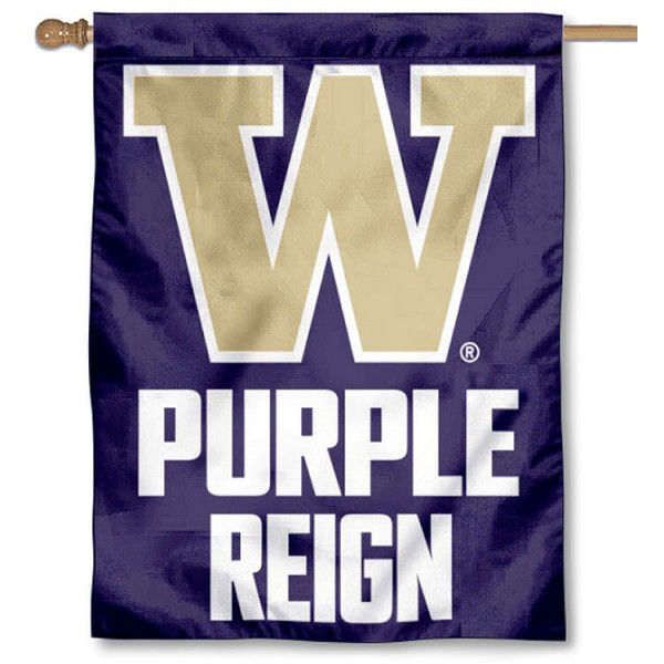 Washington Huskies Purple Reign House Flag is a vertical house flag which measures 30x40 inches, is made of 2 ply 100% polyester, offers screen printed NCAA team insignias, and has a top pole sleeve to hang vertically. Our Washington Huskies Purple Reign House Flag is officially licensed by the selected university and the NCAA.