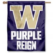 Washington Huskies Purple Reign House Flag