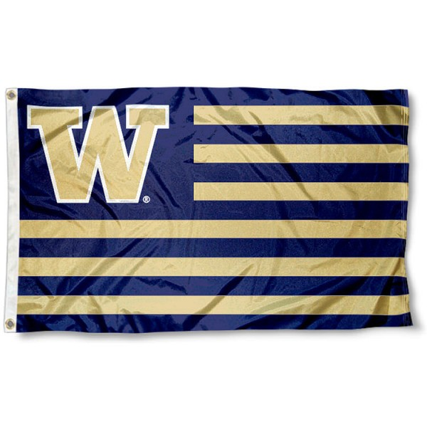 Washington Huskies Striped Flag