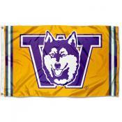 Washington Huskies Throwback Vault Logo Flag