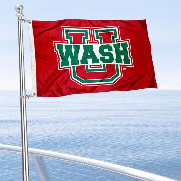 Washington St. Louis Bears Boat and Mini Flag is 12x18 inches, polyester, offers quadruple stitched flyends for durability, has two metal grommets, and is double sided. Our mini flags for Washington University in St. Louis are licensed by the university and NCAA and can be used as a boat flag, motorcycle flag, golf cart flag, or ATV flag.