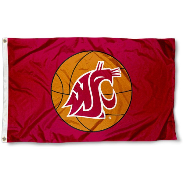 Washington State Basketball Flag measures 3'x5', is made of 100% poly, has quadruple stitched sewing, two metal grommets, and has double sided Team University logos. Our Washington State Basketball Flag is officially licensed by the selected university and the NCAA.