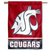 Washington State Cougars 2-Sided Home Flag