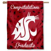 Washington State Cougars Congratulations Graduate Flag