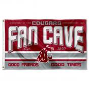 Washington State Cougars Fan Man Cave Game Room Banner Flag