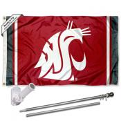 Washington State Cougars Flag Pole and Bracket Kit