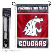 Washington State Cougars Garden Flag and Stand