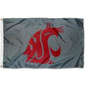 Washington State Cougars Grey Flag