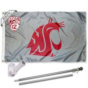 Washington State Cougars PAC 12 Flag Pole and Bracket Kit