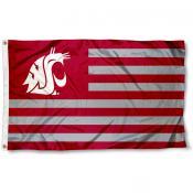 Washington State Cougars Striped Flag