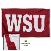 Washington State Cougars WSU Nylon Embroidered Flag