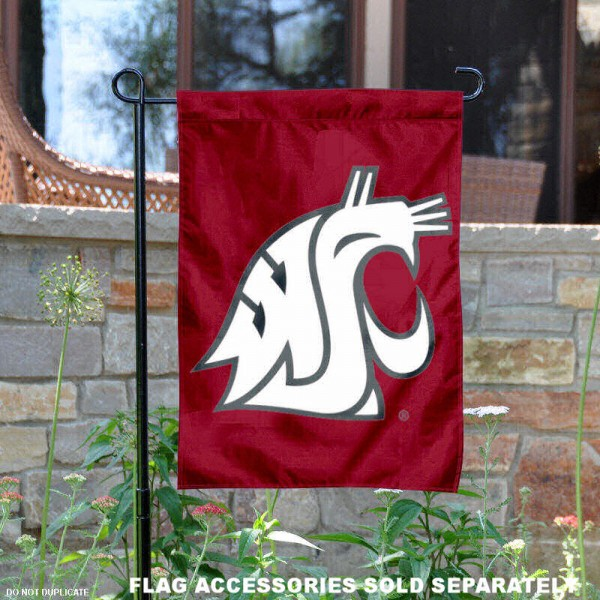 Washington State University Garden Flag is 13x18 inches in size, is made of 2-layer polyester, screen printed Washington State University athletic logos and lettering. Available with Same Day Express Shipping, Our Washington State University Garden Flag is officially licensed and approved by Washington State University and the NCAA.