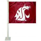Washington State WSU Car Window Flag
