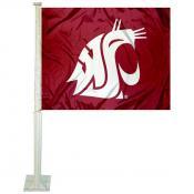 Washington State WSU Car Window Flag