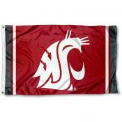 Washington State WSU Jersey Stripes Flag