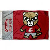 Washington State WSU Kawaii Tokyodachi Yuru Kyara Flag