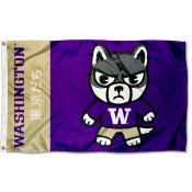 Washington UW Huskies Kawaii Tokyodachi Yuru Kyara Flag