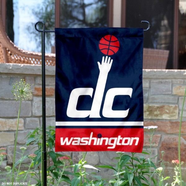 Washington Wizards Garden Flag is 12.5x18 inches in size, is made of 2-ply polyester, and has two sided screen printed logos and lettering. Available with Express Next Day Shipping, our Washington Wizards Garden Flag is NBA Genuine Merchandise and is double sided.